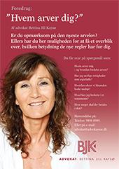 Hvem arver dig? - foredrag af Advokat Bettina Jill Kaysø